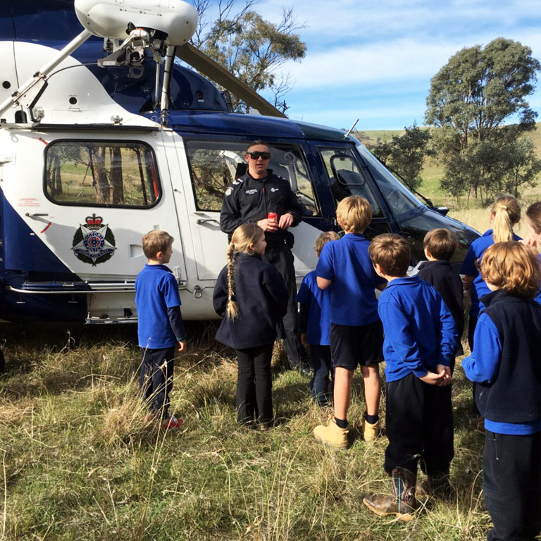 Police Helicopter Visit