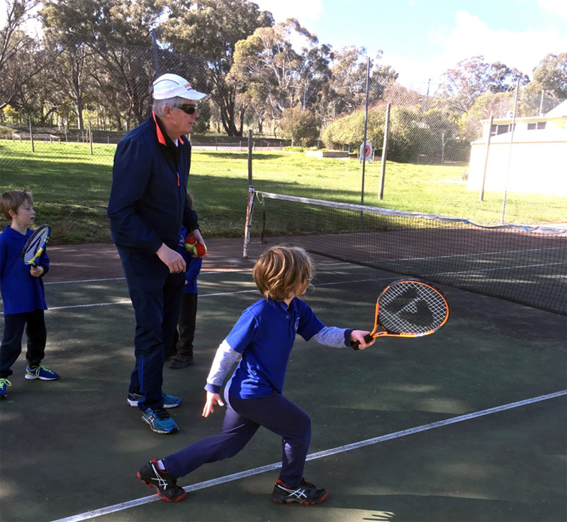 Tooborac students playing tennis